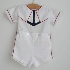 Vintage Anchor Suit little boy's short set...too cute!!!