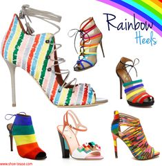 bc356b8f69fa The best   brightest rainbow heels for Spring 2016   how to wear them!