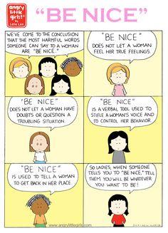 Angry Little Girls Angry Little Girls, Angry Girl, Non Sequitur, Read Comics, True Feelings, Calvin And Hobbes, Political Cartoons, Comic Strips, Growing Up