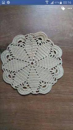 Crochet Round Cream White Doily Centerpiece Crochet Home Decor Crochet Table Decor made in Lithuania Free Crochet Doily Patterns, Crochet Placemats, Crochet Blocks, Crochet Squares, Crochet Motif, Crochet Designs, Hand Crochet, Crochet Lace, Lace Doilies