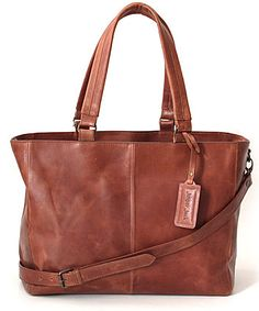 The Lilly Lux Waxy Tan Tote! 100% genuine leather from www.getthis.co.za