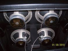 4x12 project reference: Inside of a recto slant cab, wiring and beam support