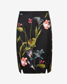 Oriental Floral pencil skirt - Black | Skirts & Shorts | Ted Baker