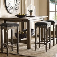 Create an elegant entertainment space with this set of two Renate bar stools. The perfect height to sidle up to a counter-height table or bar area, these stools feature foam padded seats designed to k