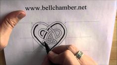 How to draw Celtic patterns 139 - Heart shaped interlace (simple) Viking Dragon, Celtic Patterns, Celtic Knots, Doodles Zentangles, Anglo Saxon, Art Journaling, Cool Drawings, Heart Shapes, Irish