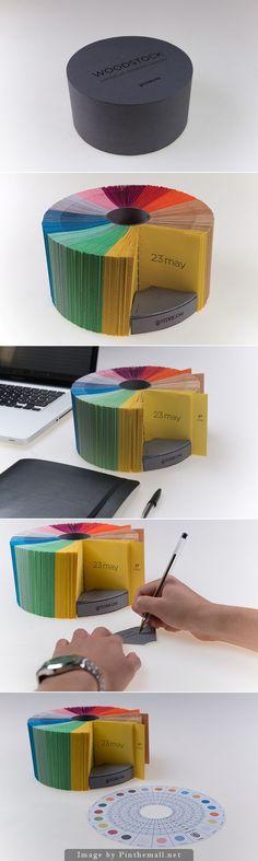 Perpetual calendar: YCN Fedrigoni Woodstock Desktop Calendar 2015 by Adam Chescoe Book Design, Layout Design, Design Art, Print Design, Graphic Design, Creative Calendar, Calendar Design, Diy Calender, Calander