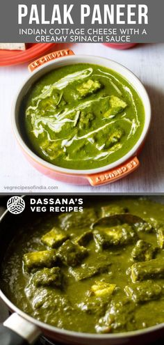 This palak paneer recipe is a comforting authentic Indian recipe that is filled with aromatic flavors and ingredients. Taste just like palak paneer found in the restaurant, except even better. #palakpaneer #Indian recipes #dassanasvegrecipes Paneer Recipes, Veg Recipes, Lunch Recipes, Indian Food Recipes, Vegetarian Recipes, Ethnic Recipes, Creamy Spinach Sauce, Paneer Dishes, Some Recipe