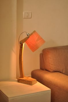 Wooden Table Lamp by Vayehi on Etsy, $295.00
