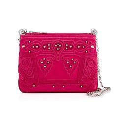 CHRISTIAN LOUBOUTIN Triloubi Small Chain Bag  Rosa Calfskin - Handbags - Christian Louboutin. #christianlouboutin #bags #lining #