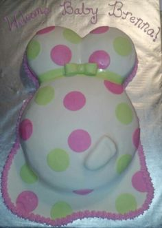 "Baby shower ""baby belly"" cake"