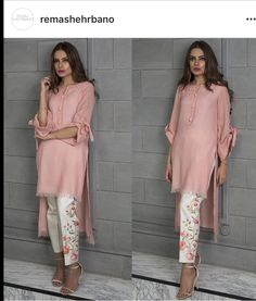 Beautiful & stylish plain silk shirt with embroidered pants. Color of shirt can be changed. And it should be mentioned in notes during checkout. Available in all sizes in all colors. Available with white embroidered pants. Pakistani Dress Design, Pakistani Outfits, Indian Outfits, Pakistani Fashion Casual, Designer Salwar Kameez, Kurta Designs, Indian Attire, Indian Wear, Trajes Pakistani