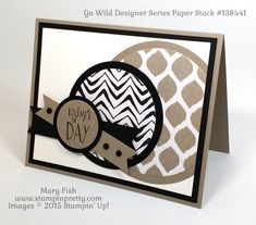 """Go Wild"" for a Father's Day Card - http://stampinpretty.com/2015/06/go-wild-for-a-fathers-day-card.html Get a little wild with this Father's Day Card.  More details on my Stampin' Pretty blog.  Mary Fish.  #stampinup, #stampingup"