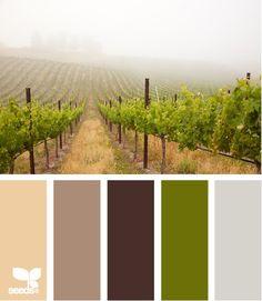 vineyard tones palette from Design Seeds Design Seeds, Exterior Paint Colors For House, Paint Colors For Home, Paint Colours, Exterior Colors, Scheme Color, Color Schemes, Color Combinations, Palette Design