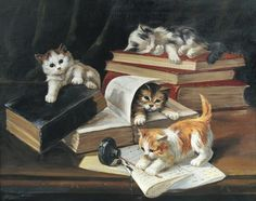 Naughty Kittens by John Henry Dolph