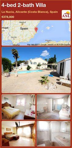 4-bed 2-bath Villa in La Nucia, Alicante (Costa Blanca), Spain ►€378,000 #PropertyForSaleInSpain