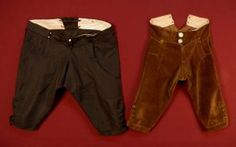 1770-1780 Men's fall front breeches. Lots of pictures at the link.