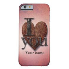 I Love You Pink Steampunk Valentine iPhone6 case from #PatternStore