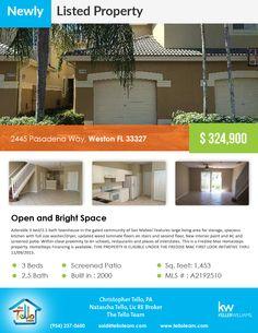 2445 Pasadena Way,  Weston FL 33327