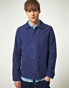 River Island Cord Collar Worker Jacket $80.57 www.asos.com