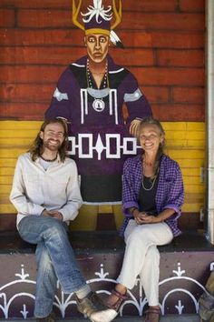 Brandon Lazore (Onondaga) part of the Two Row Wampum Mural of Ithaca, New York Native American Art, The Row, Two By Two, Hipster, New York, Style, Fashion, Swag, Moda