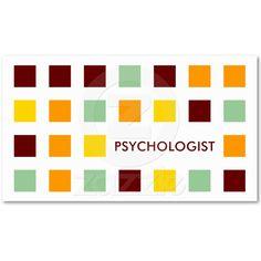 PSYCHOLOGIST (mod squares) Business Card Template   Zazzle.co.uk