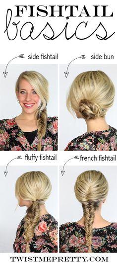 Four basic fishtail hairstyles that'll get you through the summer | Twist Me Pretty
