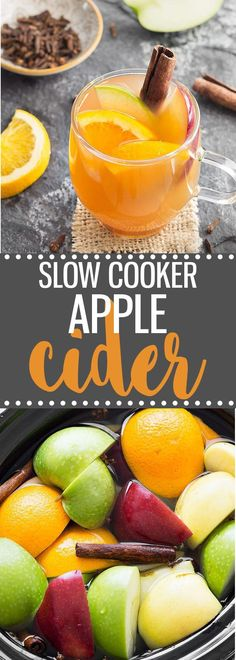 Make homemade apple cider from scratch in the slow cooker. This is the perfect holiday drink and It's also great when used in recipes like donuts, cupcakes, muffins, etc. via /easyasapplepie/