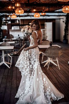 Jan 2020 - A fitted, semi-sheer mermaid gown with light embroidered flowers over silk tulle combines with elegant off-the-shoulder straps, a low illusion back, and sheer inserts on the sides that flow into a dramatic caviar tulle train. Wedding Dress Black, Classic Wedding Dress, Best Wedding Dresses, Wedding Dresses Plus Size, Bridal Dresses, Floral Wedding, Lace Wedding, Wedding Dress Low Back, Elegant Wedding Gowns