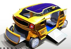 Taxi of the future......?  Bug-Like Electrocabs