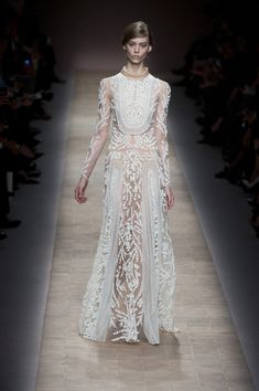 Valentino/Spring 2013 Runway Look 63: #weddingdress #lace