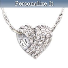 All My Love Personalized Diamond Heart-shaped Necklace - A wonderfully romantic necklace!