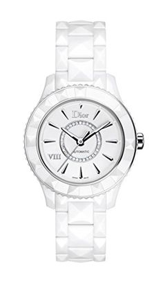 Christian Dior Viii Automatic White Ceramic And Stainless Steel Ladies Watch Cd1245e3c002. => http://www.amazon.com/Christian-Dior-Automatic-Stainless-CD1245E3C002/dp/B00AO3HEQG/watches0906-20/ => Brand, Seller, or Collection Name:Christian Dior,Model number:CD1245E3C002,Part Number:CD1245E3C002,Item Shape:Round,Display Type:Analog,Case material:White Ceramic and Stainless Steel,Band Material:Ceramic,Band Color:White,Dial color:Silver opaline with diamonds,Bezel material:Uni-directional…