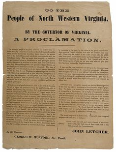 Confederate Broadside from West Virginia, 1861