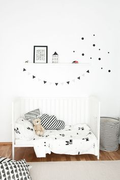 Monochrome Scandinavian style kids room