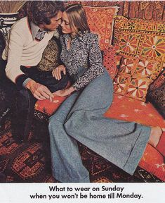 What to wear on Sunday when you won't be home till Monday. Woo! 1973.
