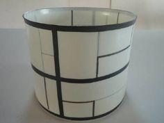Artist: Bodil Manz, Title: Cylinder 4 Black  Lines on White - click on image to enlarge
