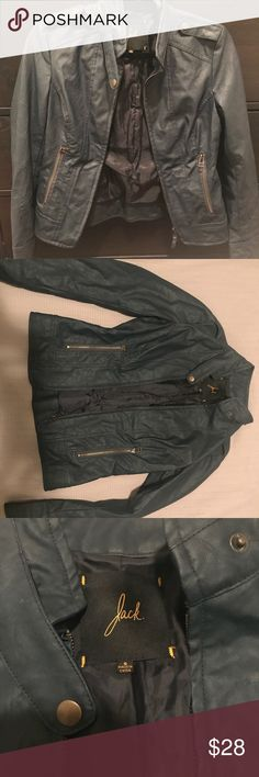 Jack by BB Dakota Blue Leather Jacket Jack by B.B. Dakota Blue Leather Jacket size small. Super comfy and looks great on. Retailed for $98. Jack by BB Dakota Jackets & Coats