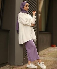 Modern Hijab Fashion, Suit Fashion, Modest Fashion, Stylish Hijab, Hijab Chic, Hijab Wear, Hijab Outfit, Style Casual, Casual Outfits