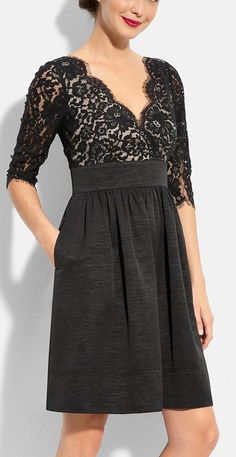 Lace fit & flare