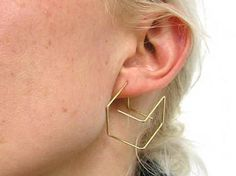 """Cube earrings 18ct gold"" https://sumally.com/p/28255"