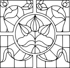Pattern, Template, Stained Glass