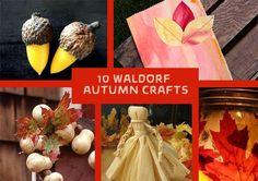 10 kids crafts inspired by waldorf crafting and autumn.  Fall is the time for crafting in the waldorf tradition!  Felted, leafy, gnome crafts!