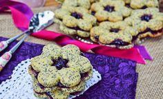 Mákos keksz áfonya lekvárral töltve :: Paleország :: Recepttár