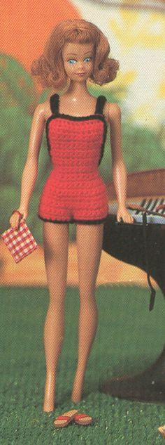 Vintage #Barbie Onesie #Playsuit Crochet Pattern PDF 8310. 2.67, via Etsy.