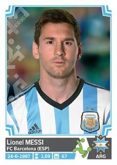 132 Lionel Messi - Argentina - Copa America Chile 2015 - PANINI