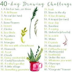 I don't multi task much anymore. I find I can't do as well at it as I use to. However, while I was doing the 30 in 30 Painting Challenge, I also did a 40 Day Drawing Challenge. This was…