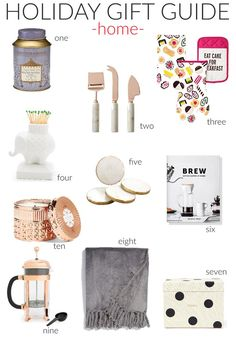 Holiday Gift Guide: Home Goods
