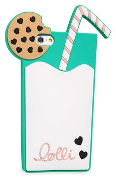 Lolli Swim 'Milk N' Cookies' iPhone 6 & 6s Case available at #Nordstrom