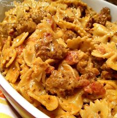 Photo: Italian Sausage & Pasta with Tomato Cream Sauce!  View recipe: http://www.southyourmouth.com/2014/07/italian-sausage-and-pasta-with-tomato.html  Pin for later: http://www.pinterest.com/pin/150166968800745044/