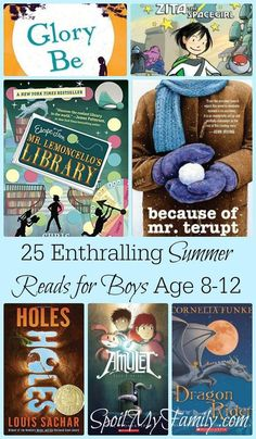 I love having a list of great books right at my fingertips! This is a great summer reading list for my boys between the ages of 8-12! www.spoilmyfamily.com